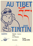 Into Tibet with Tintin Prints by Herg&#233; (Georges R&#233;mi) 