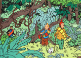 Tintin in the Jungle Posters par Hergé (Georges Rémi)