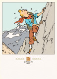 Le Temple de Soleil: Tintin on the Mountain Poster by Herg&#233; (Georges R&#233;mi) 