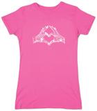 Juniors: Heart Fingers T-shirts