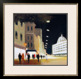 Late Shoppers, Harrods Print by Jon Barker