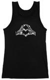 Juniors: Tank Top - Heart Fingers T-Shirt