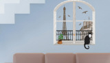 Paris Trompe l'oeil Wall Decal