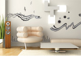 Music Black and Grey Wall Decal Wall Decal