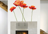 Poppies Wall Decal Sticker Wall Decal