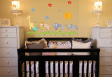 Nursery Jungle Animals Wall Decal Sticker Wall Decal