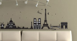 Paris, France Wall Decal Sticker Wall Decal