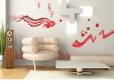 Music – red Wall Decal Sticker Wall Decal