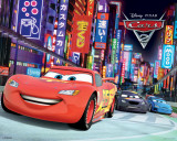 Disney Cars 2 (Race)-Metallic Affiches