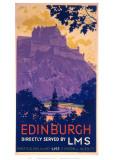 Edinburgh Purle Hill Giclee Print