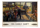 On Early Shift, Greenwood Signal Box, New Barnet Giclee Print