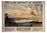 The Lake District of Surry Giclee Print