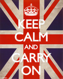 Keep Calm And Carry On (Union Jack) アートポスター
