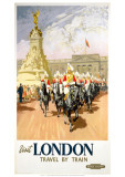 Visit London Travel by Train Giclee Print