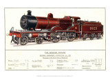 Express Passenger Locomotive, No.1025, Midland Railway Giclee Print