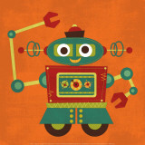 Robot 2 Prints by Nancy Lee