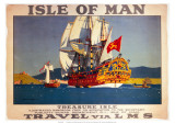 Isle of Man, Treasure Isle, LMS, c.1923-1947 Giclee Print by Norman Wilkinson