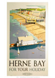 Herne Bay for your Holiday, BR (SR), c.1948 Giclee Print by Frank Sherwin