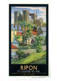Ripon Black Frame Giclee Print