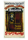 Excursion from London to Brighton Giclee Print