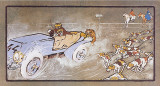 Car and the Fox Hunt Prints by Umberto Boccioni
