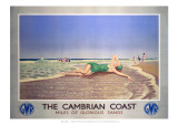 The Cambrian Coast, Miles of Glorious Sands GWR Giclee Print