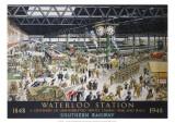 Waterloo Station, War, SR, c.1948 Giclee Print by Helen Mckie