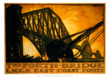 The Forth Bridge, LNER, c.1923-1947 Giclee Print by Frank Brangwyn