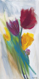 Bright Tulip Bunch II Prints by Karen Lorena Parker