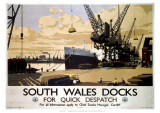 South Wales Docks Giclee Print