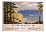 Bourenmouth: Britains All-Season Resort, BR, c.1950s Giclee Print by Alker Tripp