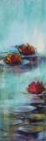 Aqua Lotus II Prints by Karen Lorena Parker