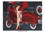 Woman in Red Posters by Miguel Garigliano