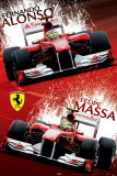 Ferrari - Alonso & Massa Paint Prints