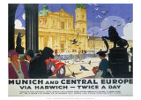 Munich and Central Europe, LNER, c.1929 Giclee Print