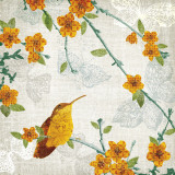 Birds and Butterflies III Plakater av Tandi Venter