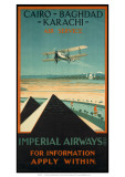 Imperial Airways travel, c.1924 Giclée-tryk