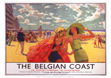 The Belgian Coast, SR/LNER, c.1930s Reproduction procédé giclée