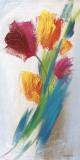 Bright Tulip Bunch I Print by Karen Lorena Parker