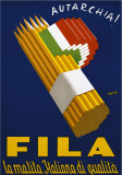 Fila, 1938 Poster von Lucio Venna