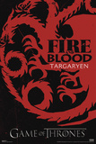Game of Thrones - Fire and Blood - House Targaryen Posters