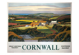 Cornwall Landscape and Cottage Giclée-Druck