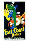East Coast Frolics, No 6, LNER, c.1933 Giclée-tryk af Frank Newbould