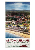 Weston-Super-Mare, Somerset&#39;s All-Year-Round Resort Giclee Print