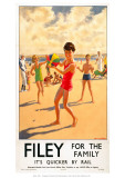 Filey for the Family Giclee Print