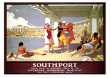 Southport Swimming Pool Ladies Giclee Print