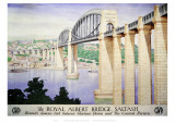 The Royal Albert Bridge Saltash Giclee Print
