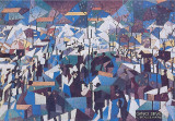 The Boulevard, 1904 Art by Gino Severini