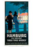 Hamburg via Grimsby Giclee Print