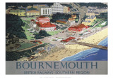 Bournemouth from Air Giclee Print